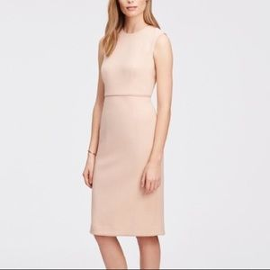Ann Taylor Pink Sleeveless Piped Sheath Dress
